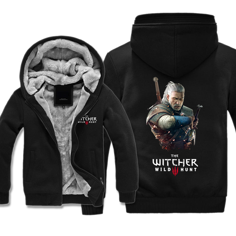 The Witcher 3 Fleece Jacket - Geralt Jacket Hoodie - Hoodie Now