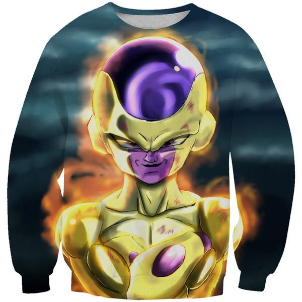 Golden Freeza Sweatshirt - Dragon Ball Super Frieza Clothing