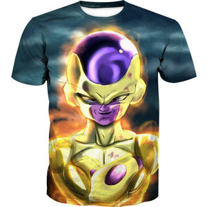 Golden Freeza T-Shirt - Dragon Ball Super Frieza Clothing