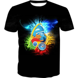 Internet Browsers T-Shirt - Chrome, Firefox, IE Clothes