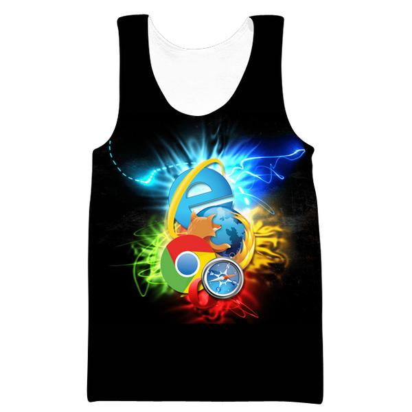 Internet Browsers Tank Top - Chrome, Firefox, IE Clothes