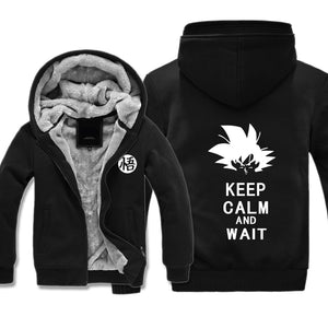 Goku Keep Calm Jacket - Dragon Ball Fleece Jackets