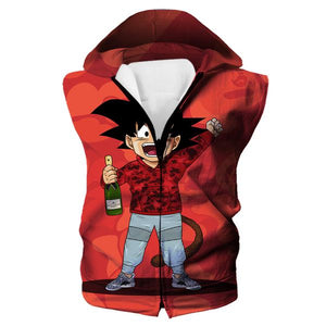Kid Goku Bape Hooded Tank Cosplay - Dragon Ball Bape Clothes - Hoodie Now