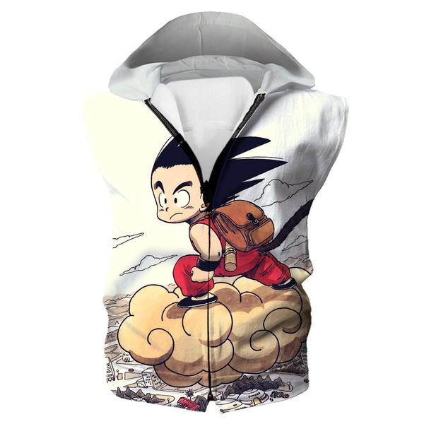 Kid Goku Nimbus Hooded Tank - Dragon Ball Clothes Kid Goku - Hoodie Now