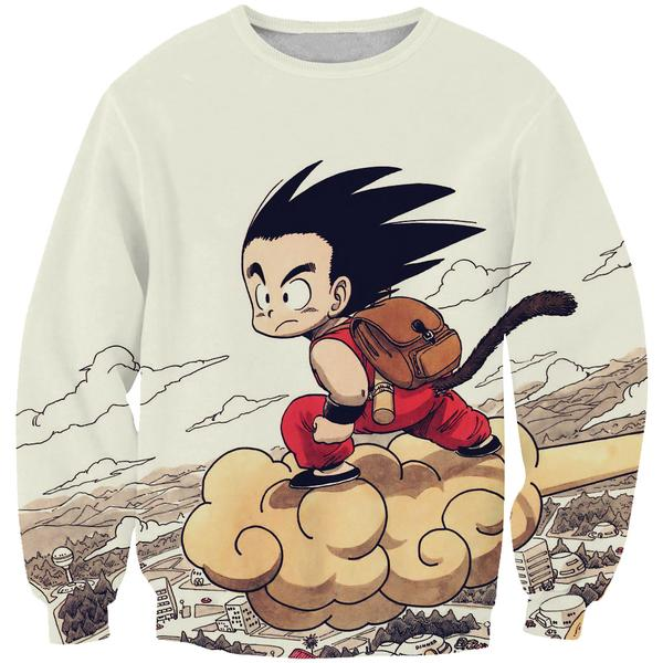 Kid Goku Nimbus Sweatshirt - Dragon Ball Clothes Kid Goku - Hoodie Now