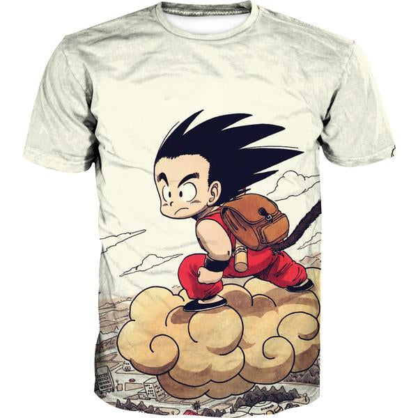 Kid Goku Nimbus T-Shirt - Dragon Ball Clothes Kid Goku - Hoodie Now
