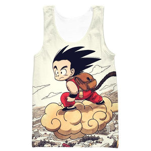 Kid Goku Nimbus Tank Top - Dragon Ball Clothes Kid Goku - Hoodie Now