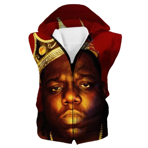 King Biggie Smalls Hooded Tank - Notorious Big Clothes - Hoodie Now