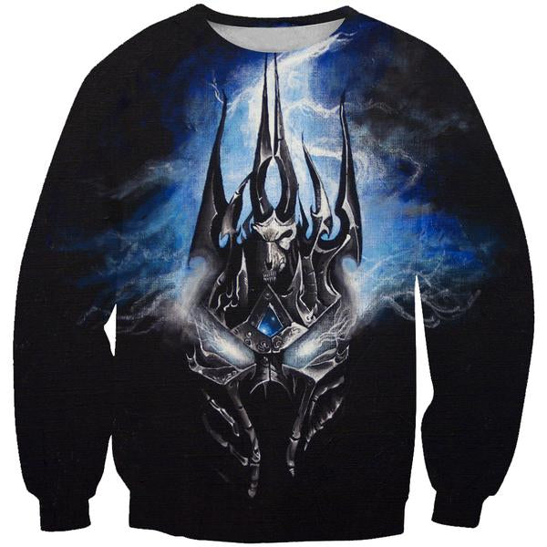 Lich King Arthas Clothes - World of Warcraft Sweatshirt - Hoodie Now