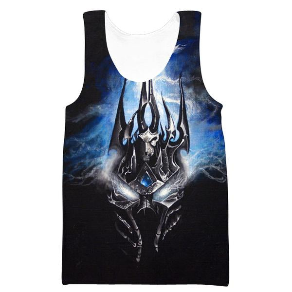 Lich King Arthas Clothes - World of Warcraft Tank Top