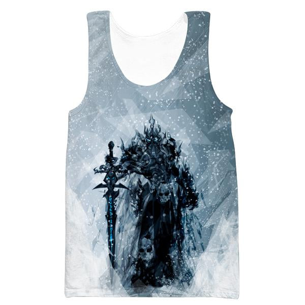 Lich King Arthas Tank Top - World of Warcraft Clothes - Hoodie Now