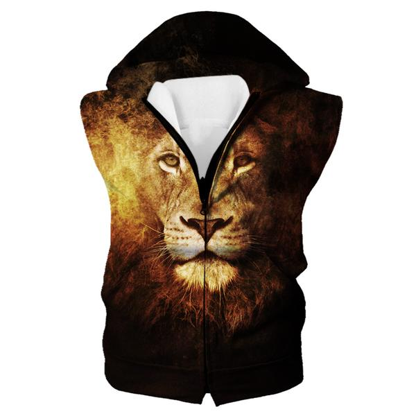 Lion Hooded Tank - Epic Lion Clothes - Hoodie Now