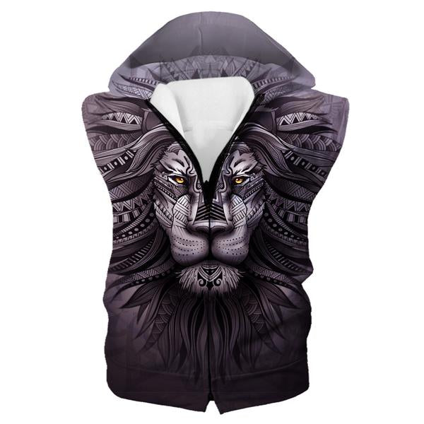 Lion Zion Hooded Tank - Epic Lion 3D Printed Clothing - Hoodie Now