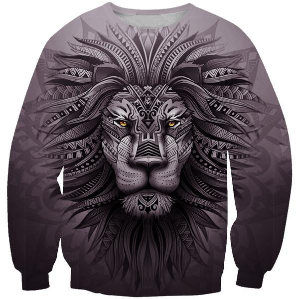 Lion Zion Sweatshirt - Epic Lion 3D Printed Clothing