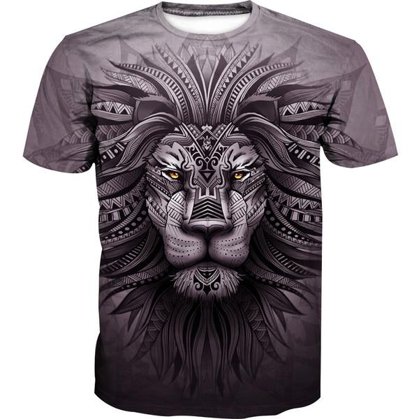 Lion Zion T-Shirt - Epic Lion 3D Printed Clothing