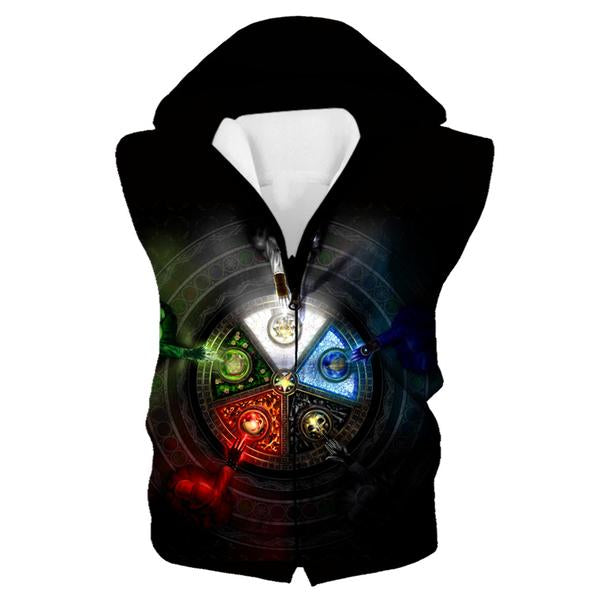 Magic the Gathering Hooded Tank - Five Mana Color Hoodie