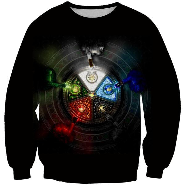 Magic the Gathering Sweatshirt - Five Mana Color Sweaters