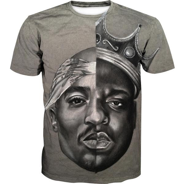 Notorious Big and 2Pac T-Shirt - Biggie Smalls Tupac Clothes
