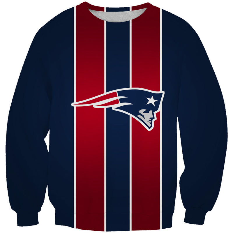 Red and Blue New England Patriots Sweatshirt - Football Patriots Clothes - Hoodie Now