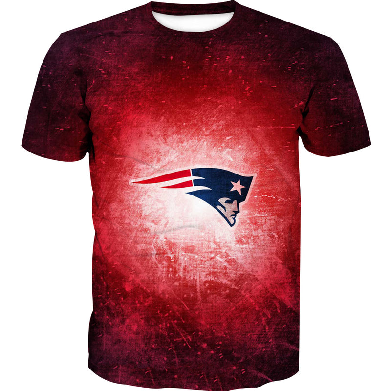 Red New England Patriots T-Shirt - Football Patriots Clothing - Hoodie Now