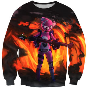 Pink Bear Skin Sweatshirt - Fortnite Pink Bear Clothes