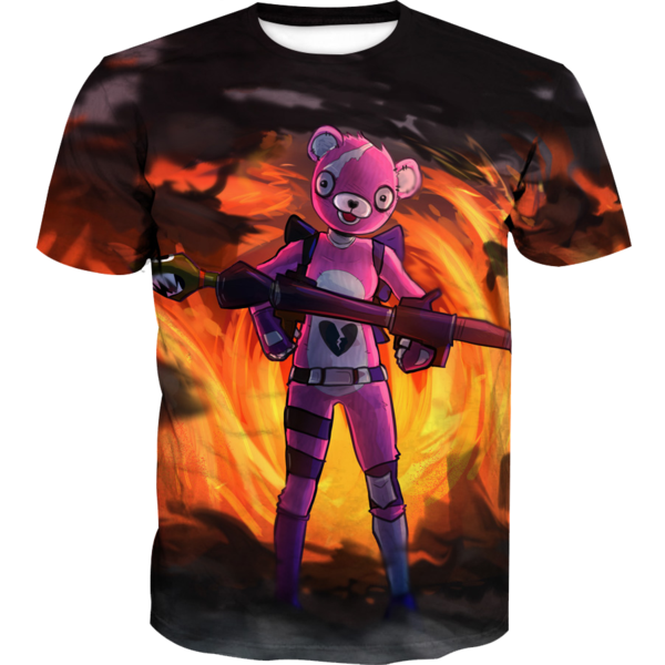 Pink Bear Skin T-Shirt - Fortnite Pink Bear Clothes