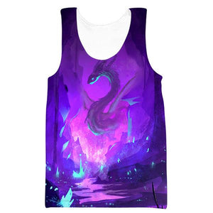 Purple Dragon Tank Top - Fantasy Hoodies and Clothing