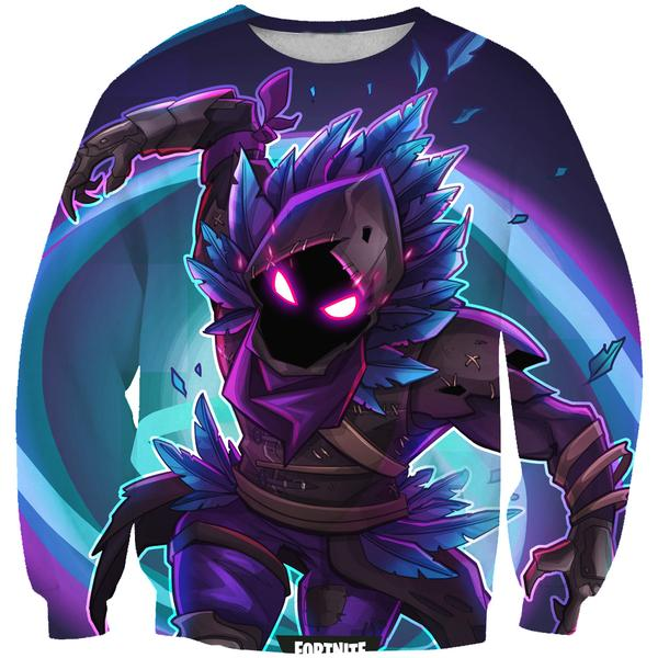 Raven Fortnite Battle Royale Sweatshirt - Raven Clothes