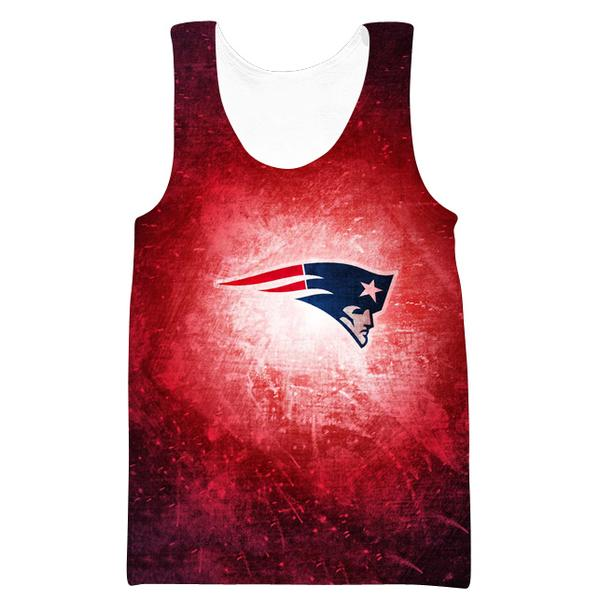 Red New England Patriots Tank Top - Football Patriots Clothing