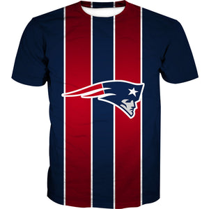 Red and Blue Patriots Shirt