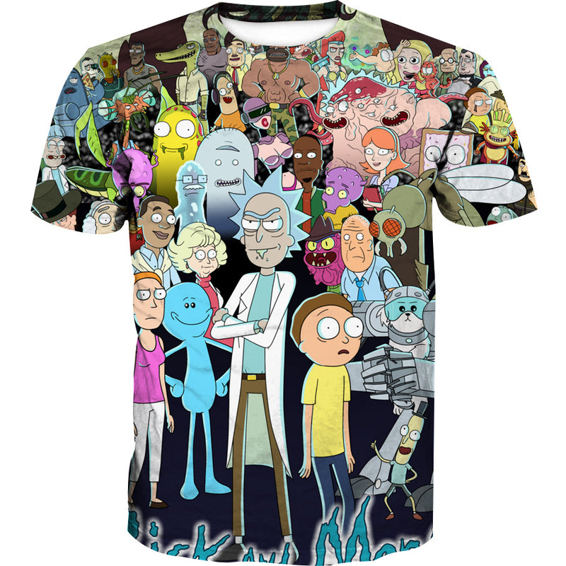 2a08603b91c35 All Character Rick and Morty Tank Top - Rick and Morty Clothes ...