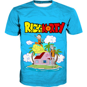 Rick and Morty x Dragon Ball Tank Top - Crossover Gym Shirts - Hoodie Now
