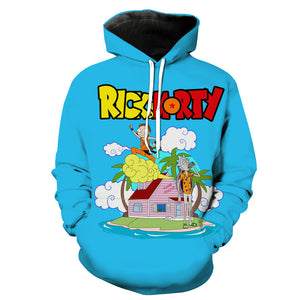 Rick and Morty x Dragon Ball Sweatshirt - Crossover Sweaters