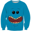 Rick and Morty Mr Meeseeks Face Sweatshirt - Mr. Meeseeks Clothes