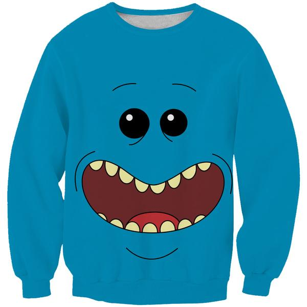 Rick and Morty Mr Meeseeks Face Sweatshirt - Mr. Meeseeks Clothes - Hoodie Now