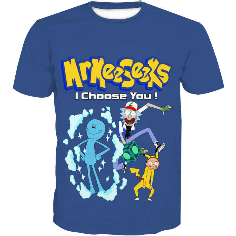 Rick and Morty Pokemon T-Shirt - Rick and Morty x Pokemon Clothes - Hoodie Now