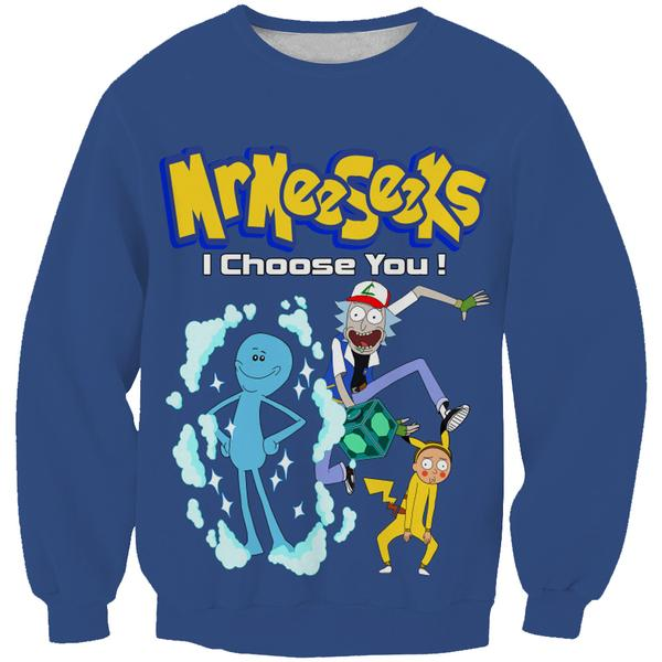 Rick and Morty Pokemon Sweatshirt - Rick and Morty x Pokemon Clothes - Hoodie Now