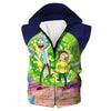 Rick and Morty Portal Hooded Tank - Rick and Morty Clothing - Hoodie Now