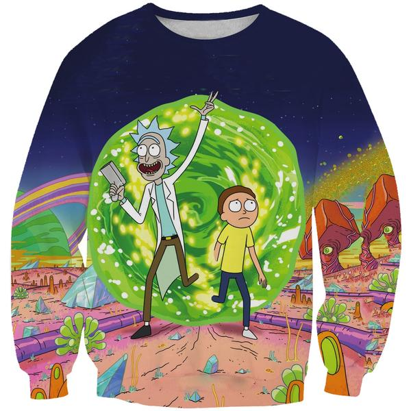 Rick and Morty Portal Sweatshirt - Rick and Morty Clothing - Hoodie Now