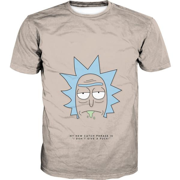 Rick and Morty Rick Face T-Shirt - Rick and Morty Apparel - Hoodie Now