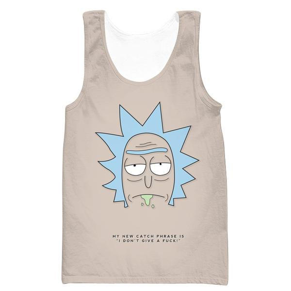 Rick and Morty Rick Face Tank Top- Rick and Morty Apparel - Hoodie Now