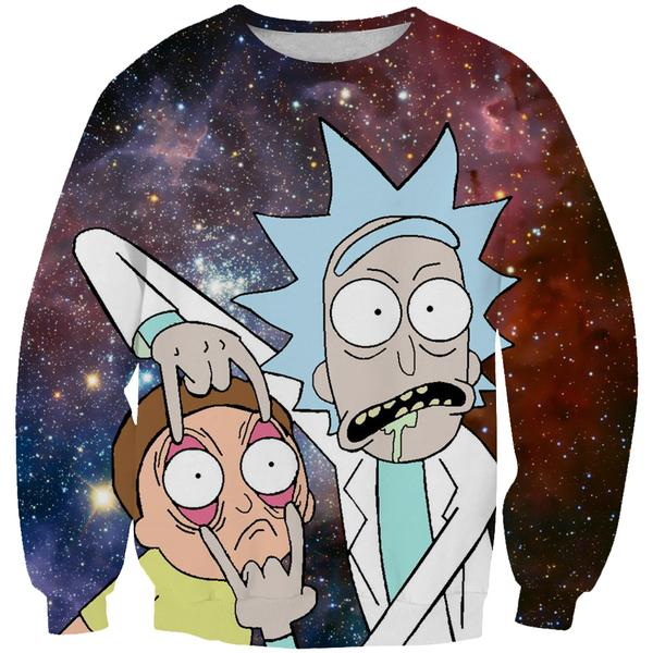 Rick and Morty Sweatshirt - Rick and Morty Eyes Clothes