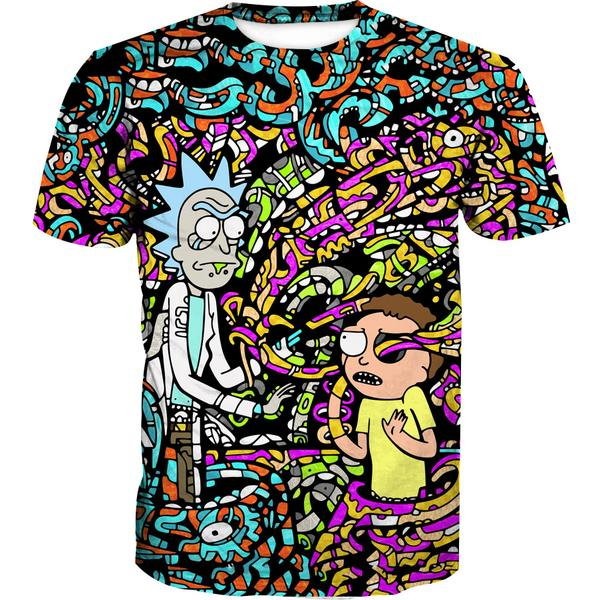 Rick and Morty Trippy Acid T-Shirt - Trip Cartoon Clothing - Hoodie Now