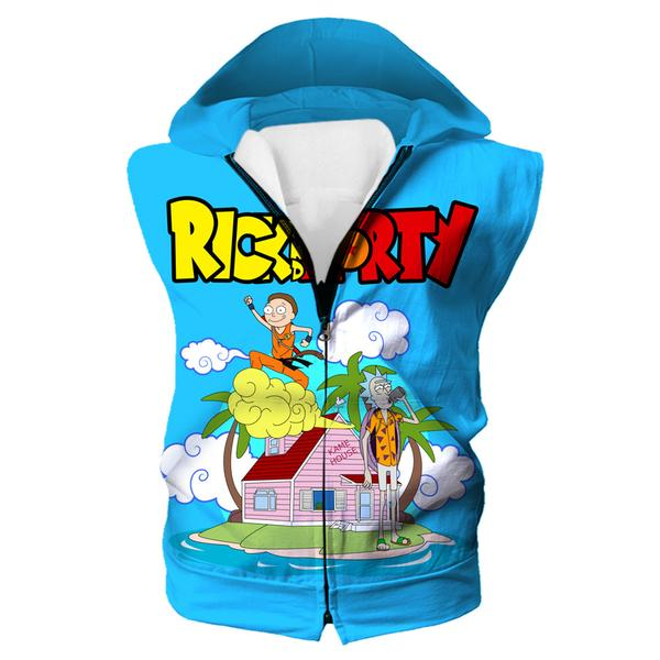 Rick and Morty x Dragon Ball Hooded Tank - Crossover Hoodie