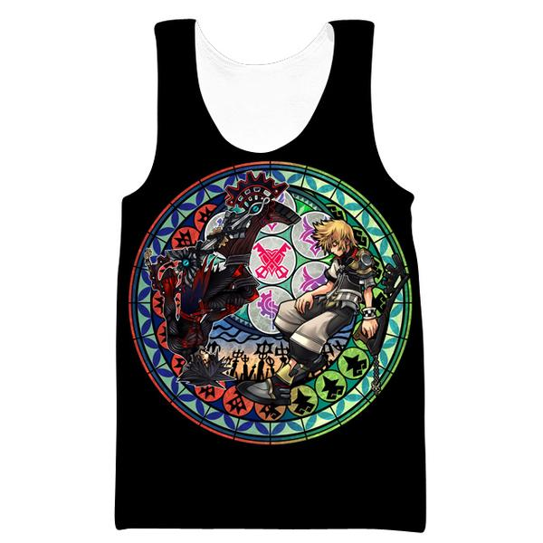 Roxas and Sora Black Tank Top - Kingdom Hearts Clothing - Hoodie Now