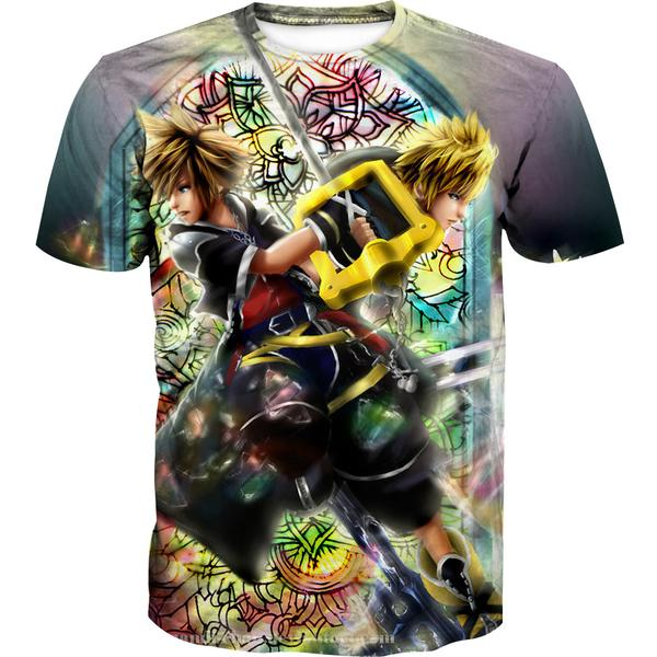 Roxas and Sora Keyblade T-Shirt - Kingdom Hearts Clothing