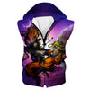 SSJ Goku vs Majin Vegeta Hooded Tank - Dragon Ball Z Clothing