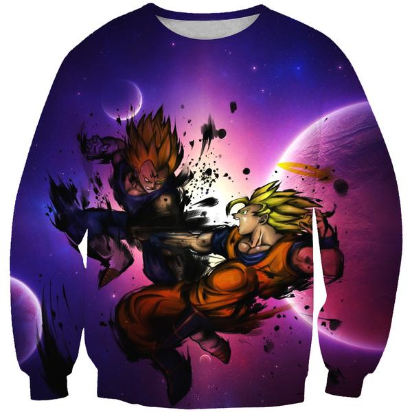 SSJ Goku vs Majin Vegeta Sweatshirt - Dragon Ball Z Clothing