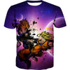 SSJ Goku vs Majin Vegeta T-Shirt - Dragon Ball Z Clothing