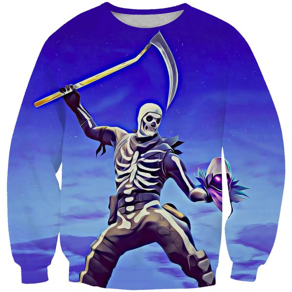 Skull Trooper and Raven Sweatshirt - Fortnite Clothes